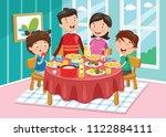 vector illustration of family... | Shutterstock .eps vector #1122884111