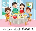 vector illustration of family... | Shutterstock .eps vector #1122884117