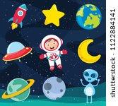 vector illustration of space... | Shutterstock .eps vector #1122884141