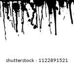 vector dripping paint.paint... | Shutterstock .eps vector #1122891521