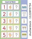 math worksheet for kindergarten ... | Shutterstock .eps vector #1122895754