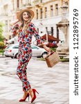 outdoor full length portrait of ...   Shutterstock . vector #1122895769
