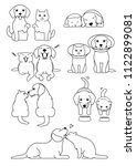 set of cat and dog pairs | Shutterstock .eps vector #1122899081