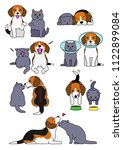 set of cat and dog pairs | Shutterstock .eps vector #1122899084