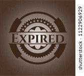 expired wood emblem. retro | Shutterstock .eps vector #1122906929