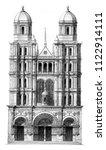 saint michel church in dijon ... | Shutterstock . vector #1122914111