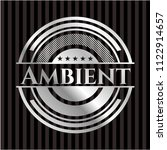 ambient silver shiny emblem | Shutterstock .eps vector #1122914657