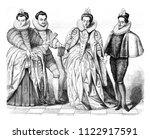 louise de vaudemont  wife of... | Shutterstock . vector #1122917591