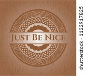 just be nice badge with wood... | Shutterstock .eps vector #1122917825