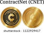 set of physical golden coin... | Shutterstock .eps vector #1122929417
