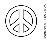 peace symbol. outline black and ...   Shutterstock .eps vector #1122949997