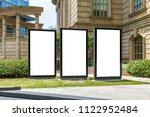 blank mock up of vertical... | Shutterstock . vector #1122952484