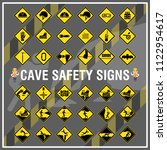 set of safety signs and symbols ... | Shutterstock .eps vector #1122954617