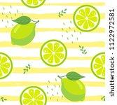 lime fruit seamless pattern on... | Shutterstock .eps vector #1122972581