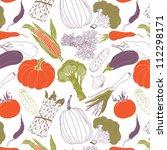assorted vegetables   Shutterstock .eps vector #112298171