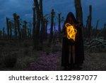 scary halloween concept  a... | Shutterstock . vector #1122987077