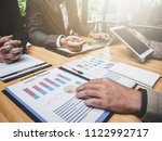 meeting of tax lawyer business... | Shutterstock . vector #1122992717