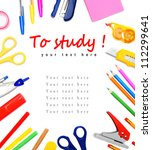 back to school. to study.... | Shutterstock . vector #112299641