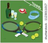 wimbledon tournament... | Shutterstock .eps vector #1123011017