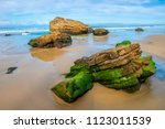 mallacoota moss rocks  situated ... | Shutterstock . vector #1123011539