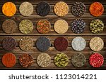 large collection of different...   Shutterstock . vector #1123014221