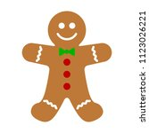 gingerbread man holiday biscuit ... | Shutterstock .eps vector #1123026221