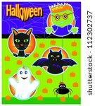 halloween icons   Shutterstock .eps vector #112302737