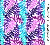 fern frond herbs  tropical... | Shutterstock .eps vector #1123039037