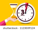 three minutes countdown design... | Shutterstock .eps vector #1123039124