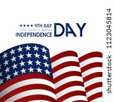 usa independence day design...   Shutterstock .eps vector #1123045814