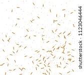 gold confetti  ribbons.... | Shutterstock .eps vector #1123046444
