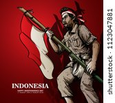 indonesia independence day... | Shutterstock .eps vector #1123047881