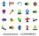 colored vector icon set  ... | Shutterstock .eps vector #1123048031