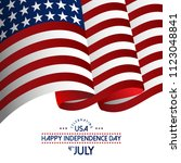 usa independence day design...   Shutterstock .eps vector #1123048841