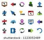 colored vector icon set  ... | Shutterstock .eps vector #1123052489