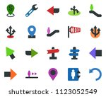 colored vector icon set  ... | Shutterstock .eps vector #1123052549