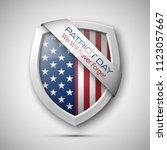 president's day shield banner... | Shutterstock . vector #1123057667