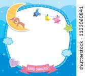 baby shower template design...   Shutterstock .eps vector #1123060841