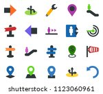 colored vector icon set  ... | Shutterstock .eps vector #1123060961