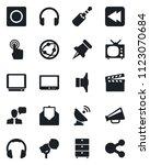 set of vector isolated black... | Shutterstock .eps vector #1123070684