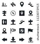 set of vector isolated black... | Shutterstock .eps vector #1123073915
