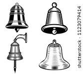set of ship bell illustrations... | Shutterstock .eps vector #1123079414