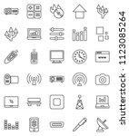 thin line vector icon set   pen ... | Shutterstock .eps vector #1123085264