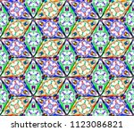 colorful seamless rhombus...   Shutterstock . vector #1123086821
