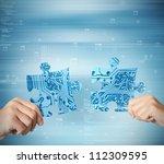 concept of system integration... | Shutterstock . vector #112309595