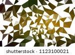 dark green  yellow vector low... | Shutterstock .eps vector #1123100021