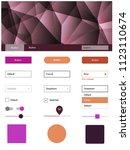 dark pink  yellow vector web ui ...