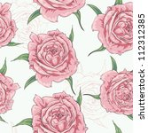 seamless flower pattern in... | Shutterstock .eps vector #112312385