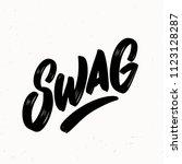 swag. vector lettering. | Shutterstock .eps vector #1123128287