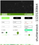 light green vector web ui kit...